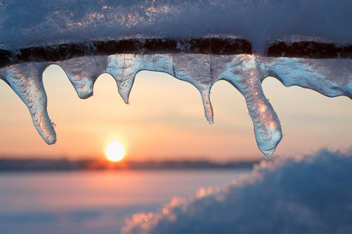 ice sunset