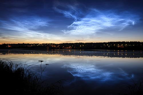 noctilucent clouds lake